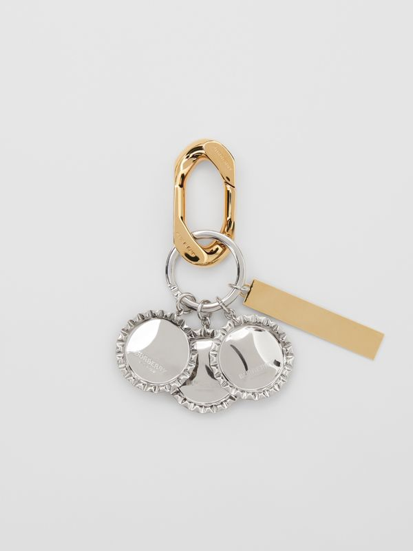 Gold and Palladium-plated Bottle Cap Charm in Multicolour - Women | Burberry Australia - cell image 2