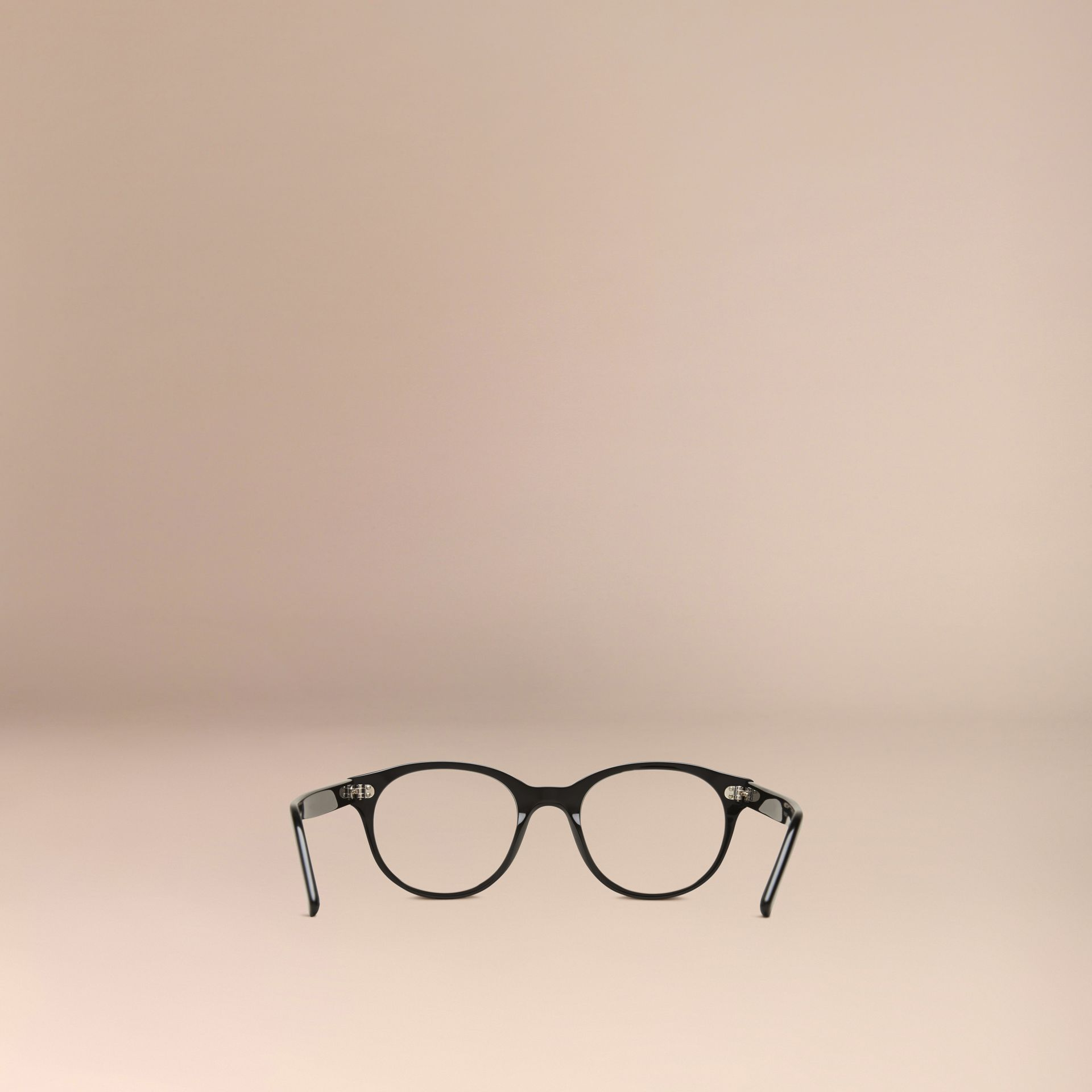 Round Optical Frames in Black - gallery image 3