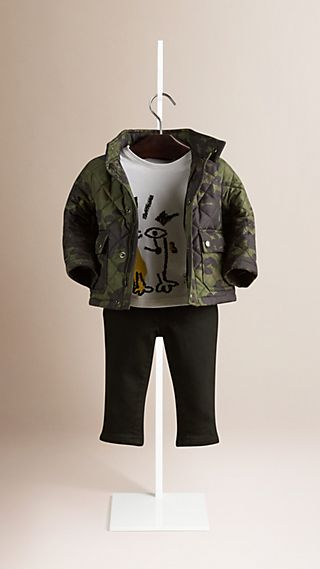 Camouflage Print Quilted Field Jacket