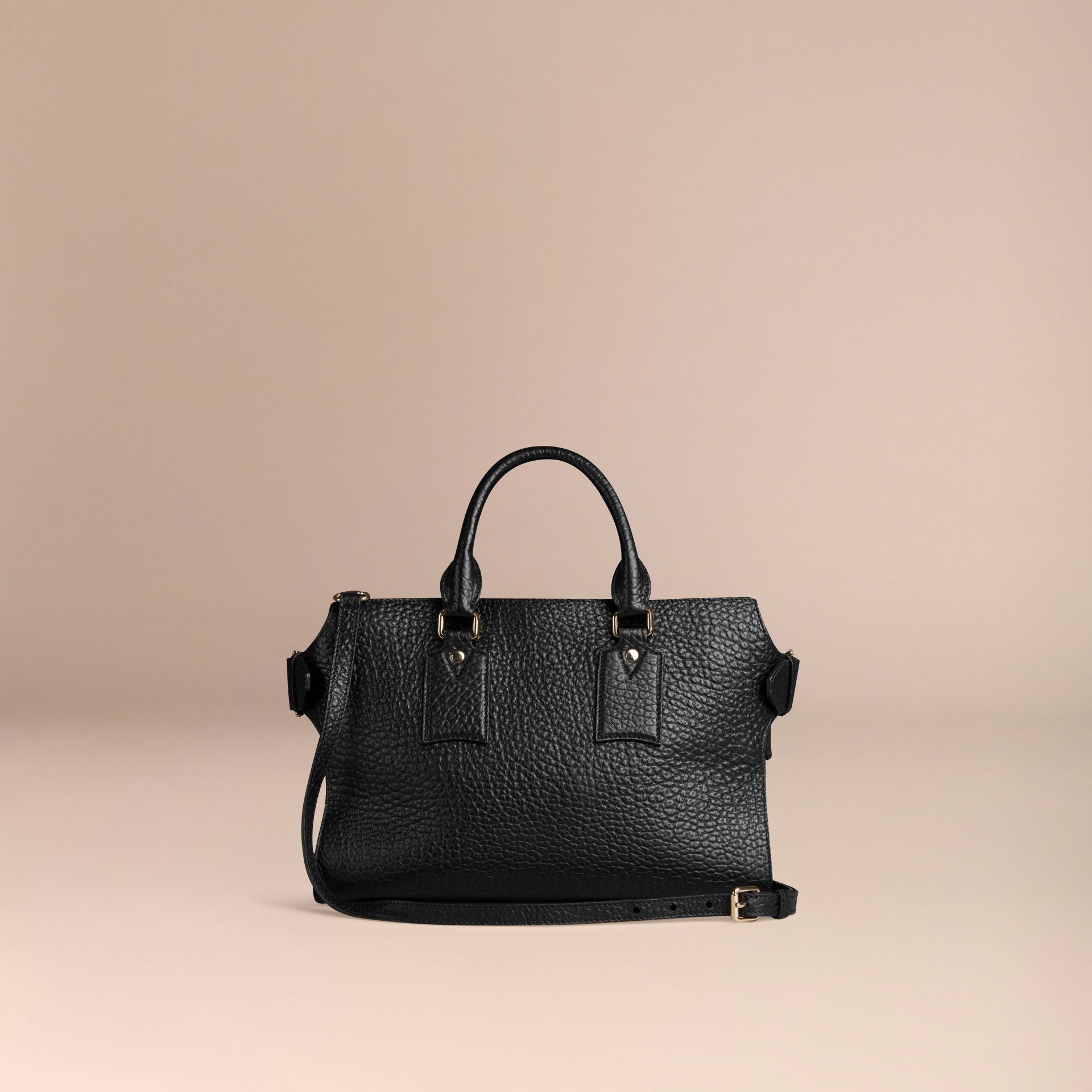 Noir Sac medium The Clifton en cuir grainé emblématique Noir - photo de la galerie 3