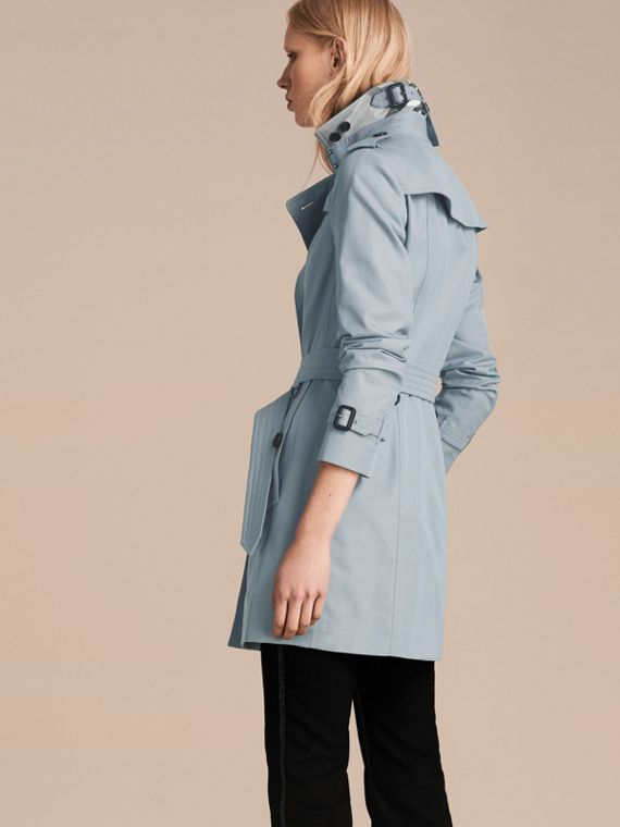 Pale sky blue Cotton Gabardine Trench Coat Pale Sky Blue - cell image 2