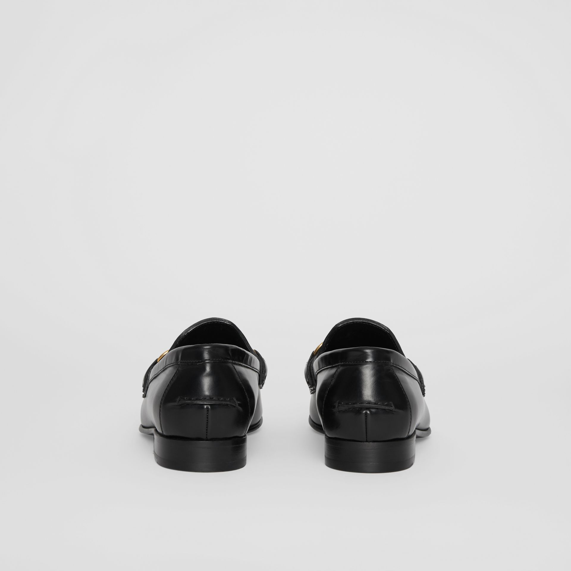 The Leather Link Loafer in Black - Women | Burberry United Kingdom - gallery image 3