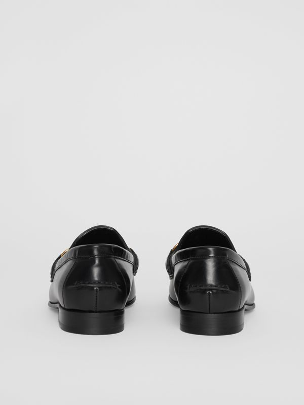 The Leather Link Loafer in Black - Women | Burberry United Kingdom - cell image 3