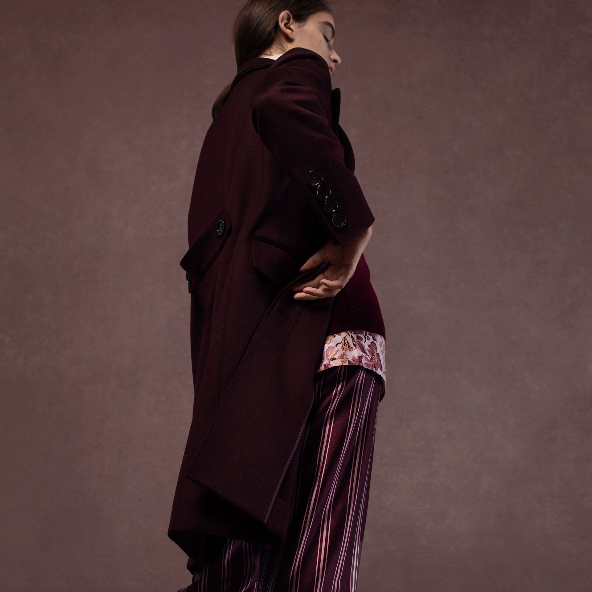Dark elderberry Cashmere Tailored Coat Dark Elderberry - gallery image 10