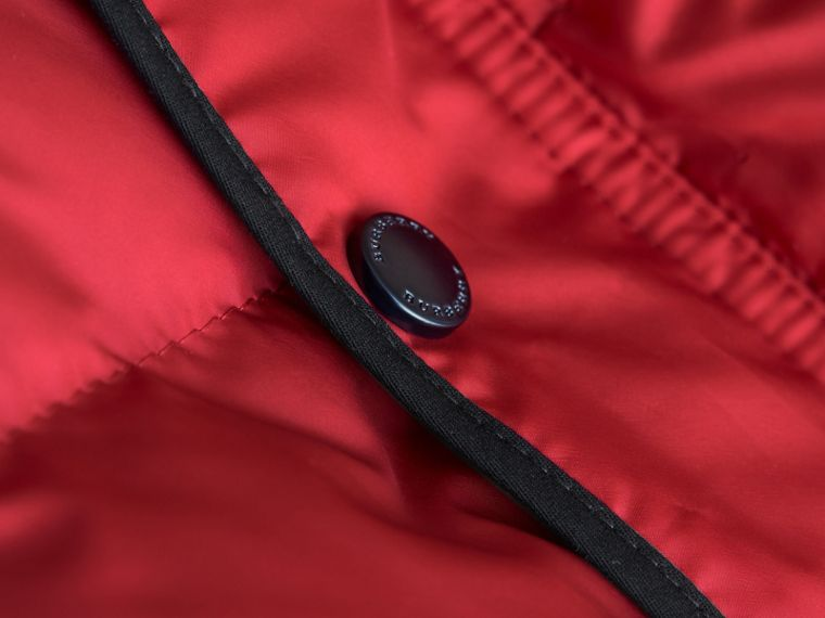 Down-filled Hooded Gilet in Parade Red - Boy | Burberry - cell image 1