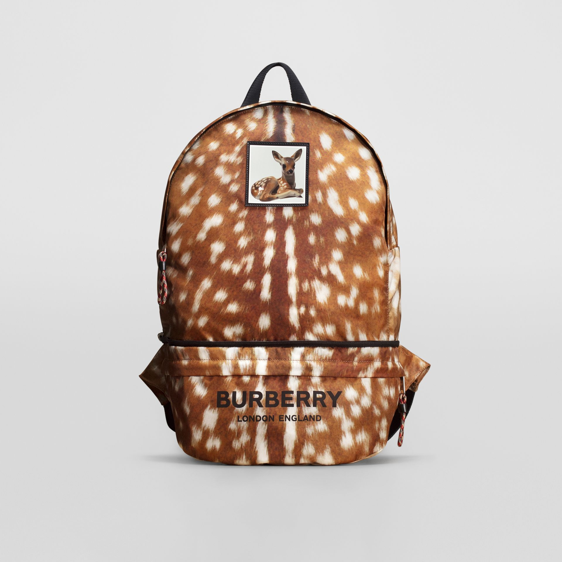 Deer Print Convertible Bum Bag in Tan/white | Burberry - gallery image 0