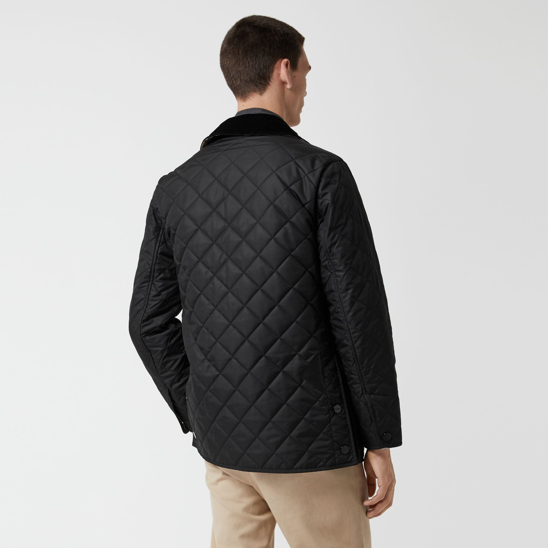 Diamond Quilted Thermoregulated Barn Jacket in Black - Men | Burberry United Kingdom - gallery image 2