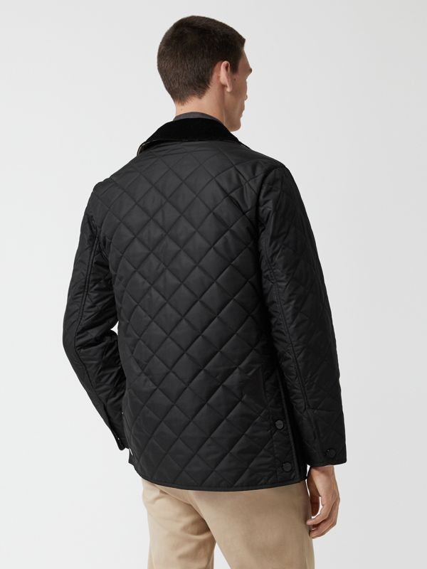 Diamond Quilted Thermoregulated Barn Jacket in Black - Men | Burberry - cell image 2
