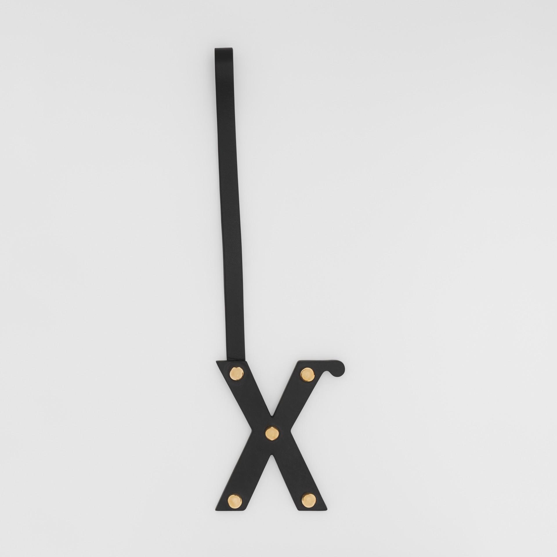「X」スタッズレザー アルファベットチャーム (ブラック/ライトゴールド) | バーバリー - ギャラリーイメージ 0