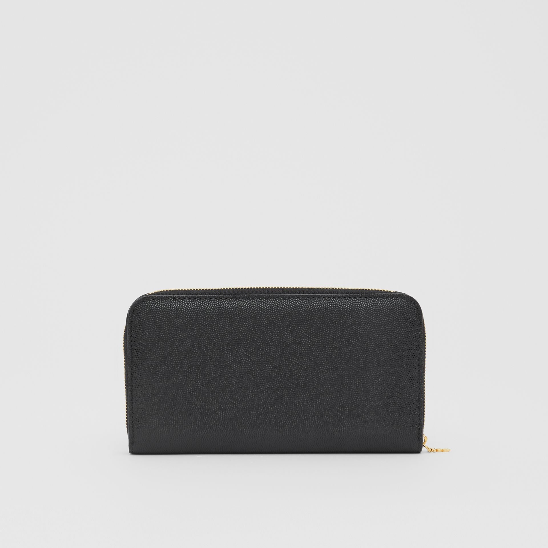 Portefeuille zippé en cuir grainé Monogram (Noir) - Femme | Burberry - photo de la galerie 5