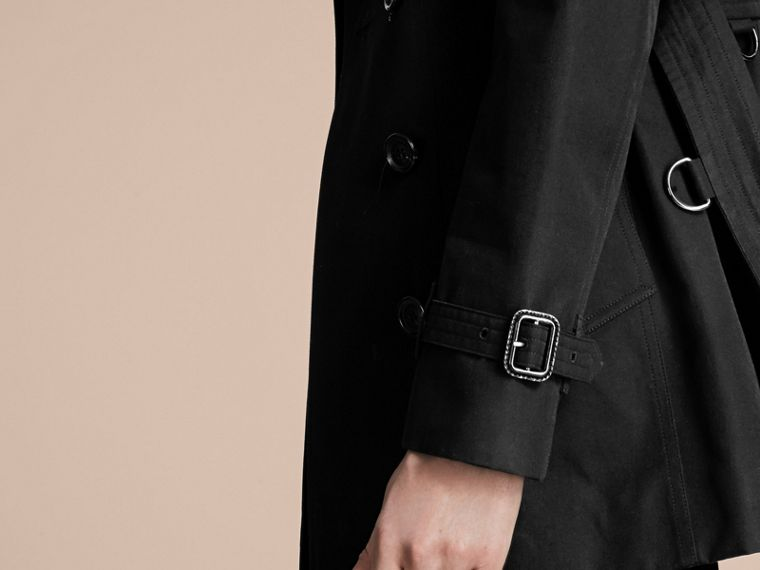 Black The Sandringham – Short Heritage Trench Coat Black - cell image 4