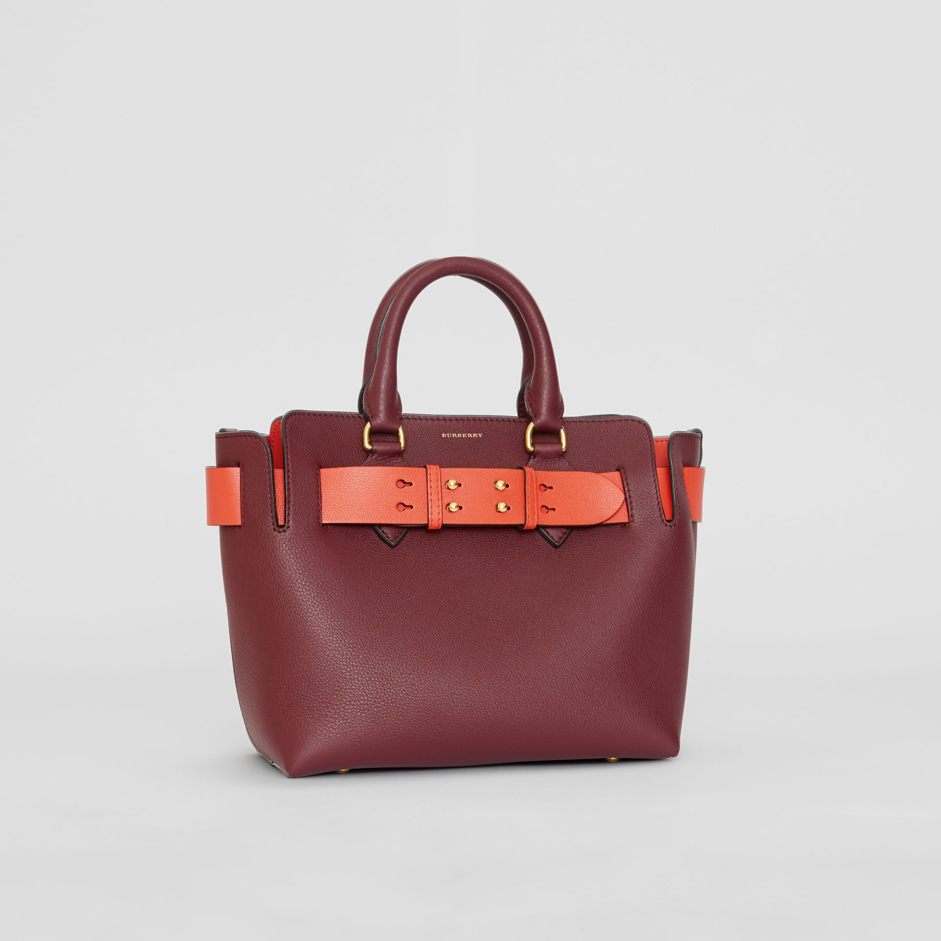 The Small Leather Belt Bag in Deep Claret - Women | Burberry - gallery image 7