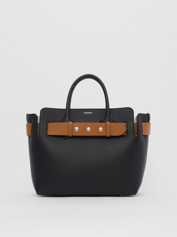 Bolsa Belt de couro com tachas - Pequena (Preto/conhaque/rosa Giz)