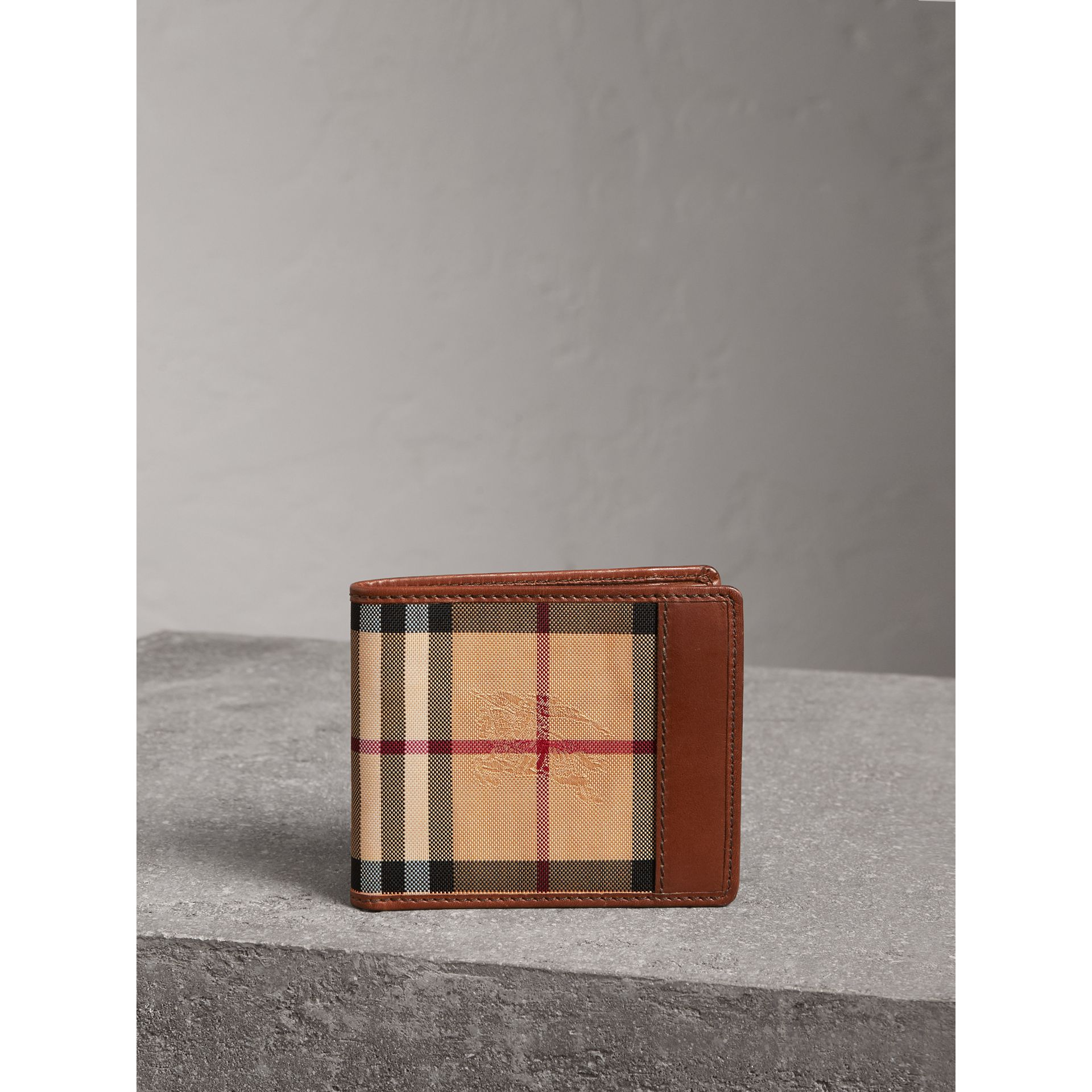 Horseferry Check ID Wallet in Tan - Men | Burberry United Kingdom - gallery image 5