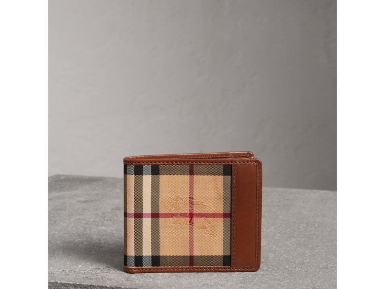 Horseferry Check ID Wallet in Tan - Men | Burberry - cell image 4