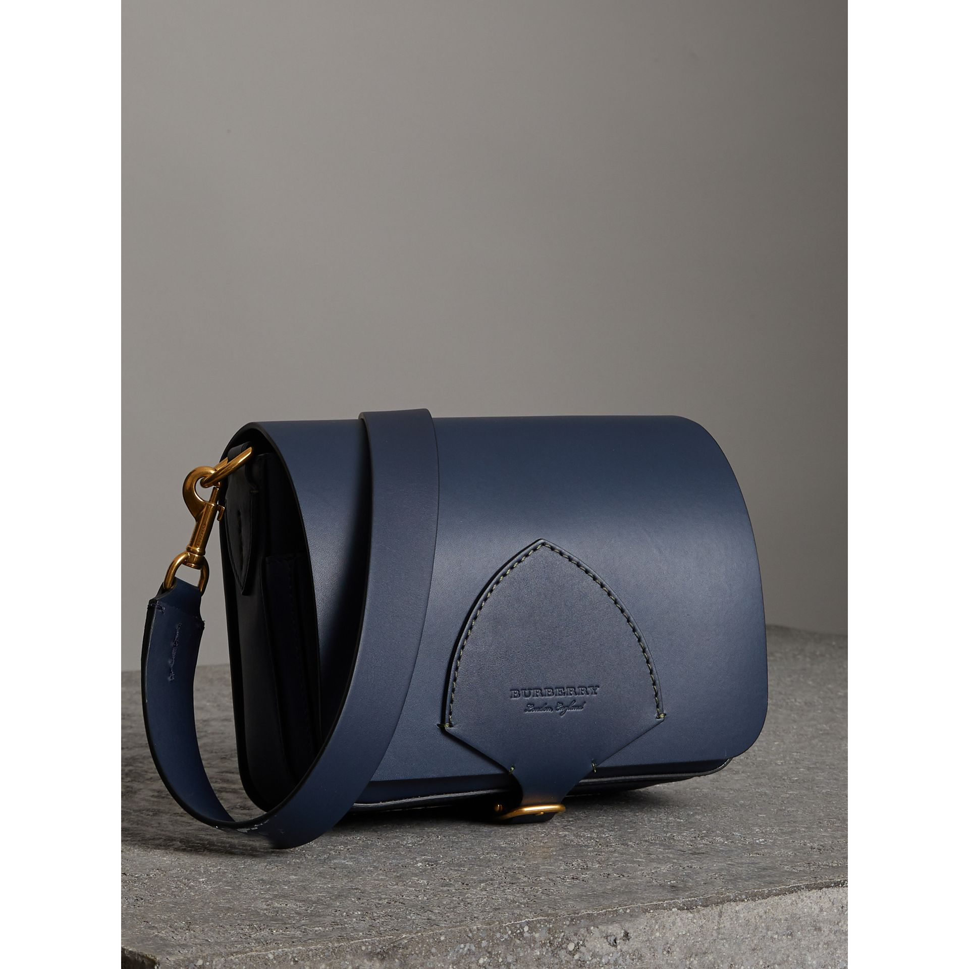 The Medium Square Satchel in Leather in Mid Indigo - Women | Burberry United States - gallery image 6