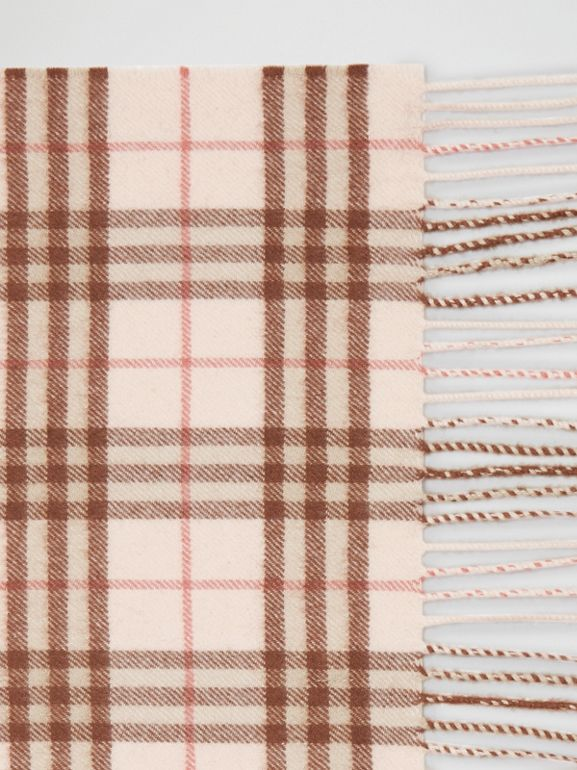 The Classic Vintage Check Cashmere Scarf in Ice Pink | Burberry - cell image 1