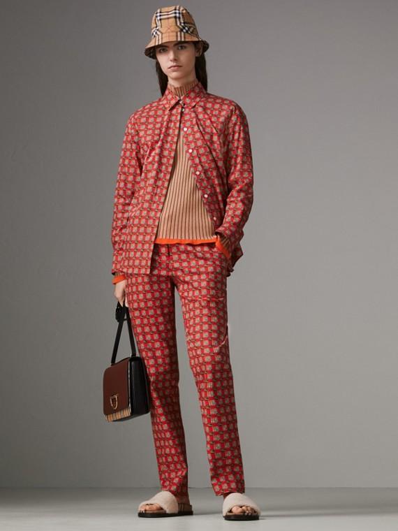 Silk Cashmere Turtleneck Sweater in Sand Brown