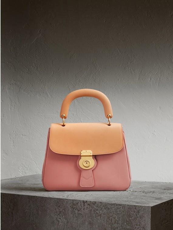The Medium DK88 Top Handle Bag in Ash Rose/pale Clementine