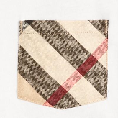 Burberry - T-shirt en coton avec poche à motif check - 2