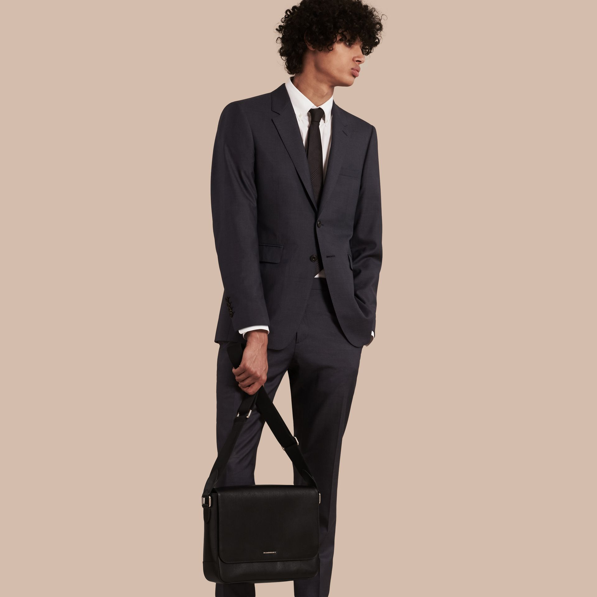 Black London Leather Briefcase Black - gallery image 7