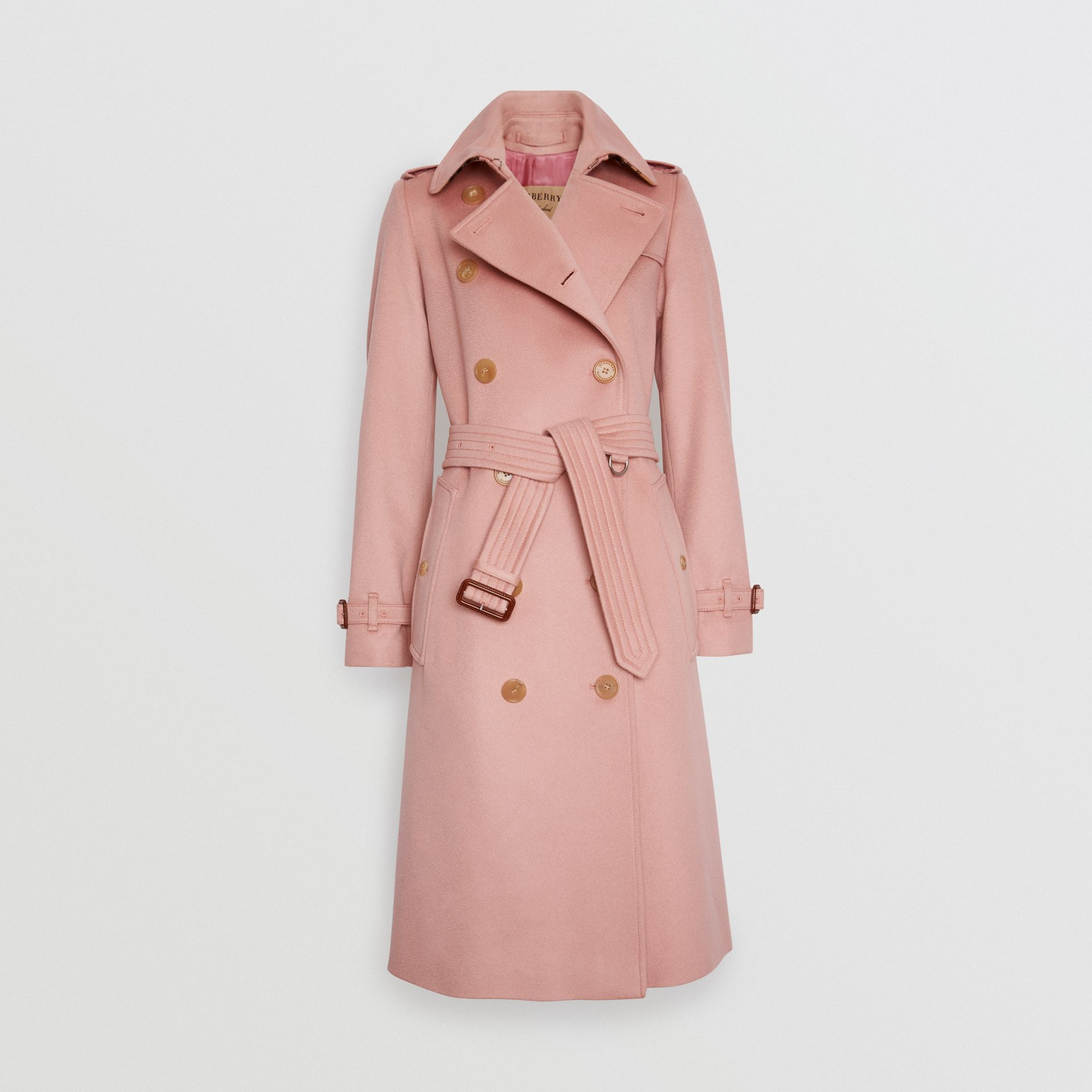 Cashmere Trench Coat in Chalk Pink - Women | Burberry - gallery image 3