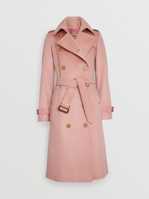 Cashmere Trench Coat in Chalk Pink - Women | Burberry - cell image 3