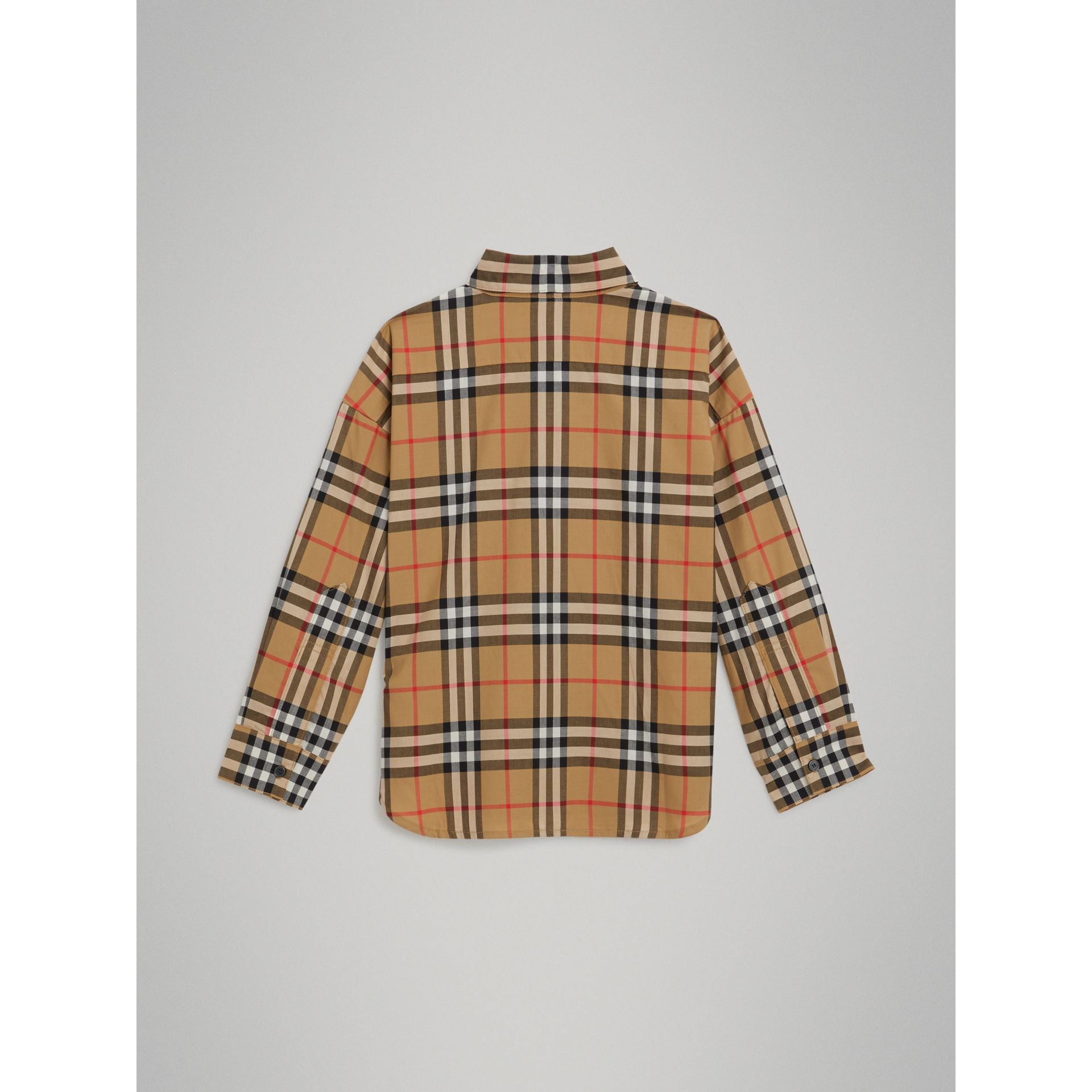 Vintage Check Cotton Shirt in Antique Yellow - Girl | Burberry - gallery image 3