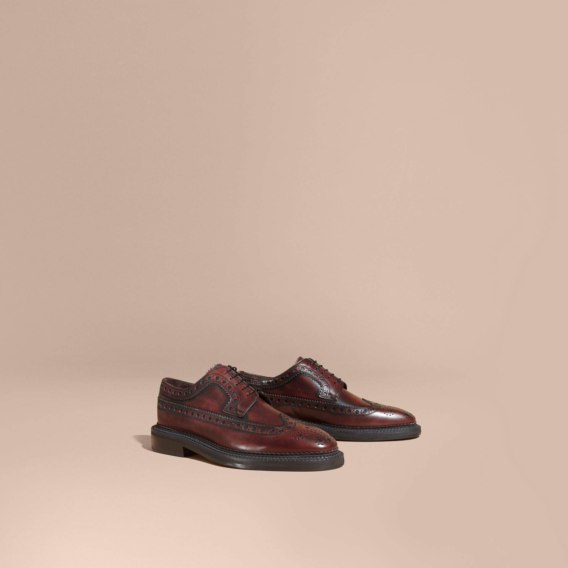Bordeaux Leather Derby Brogues - gallery image 1