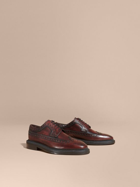 Leather Derby Brogues - Men | Burberry Singapore