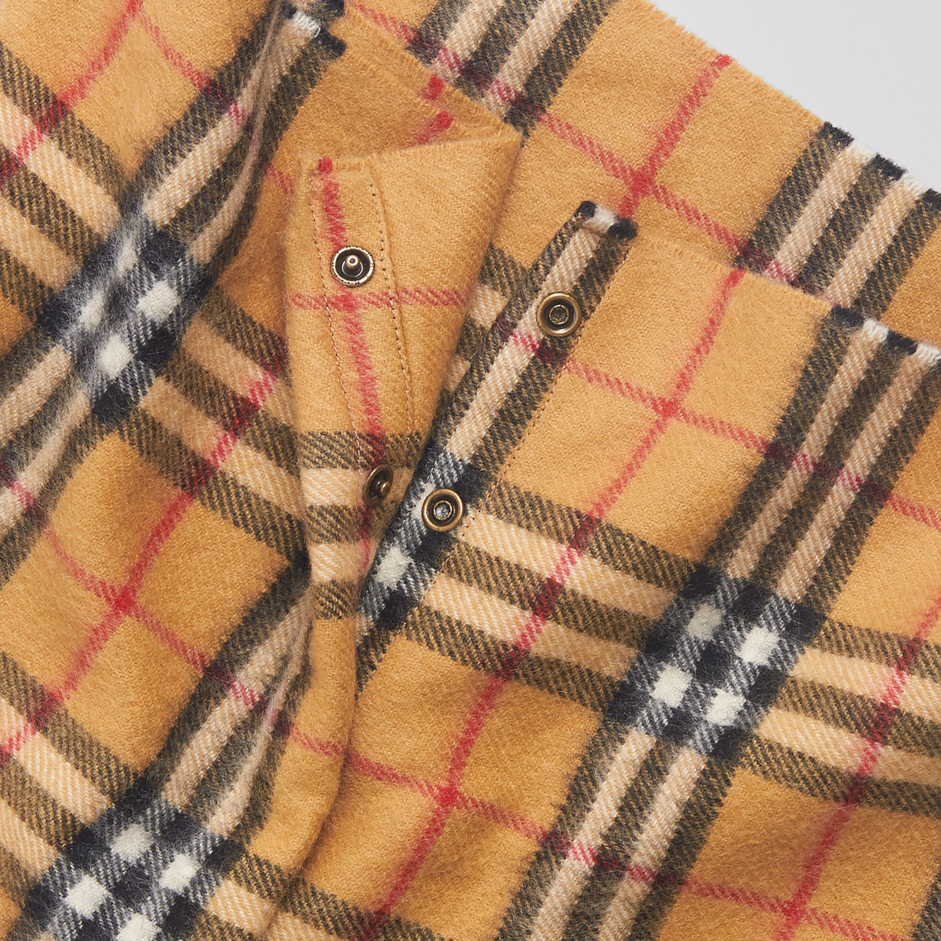 Vintage Check Cashmere Snood in Antique Yellow | Burberry Singapore - gallery image 1