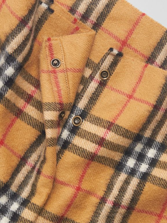 Vintage Check Cashmere Snood in Antique Yellow | Burberry - cell image 1