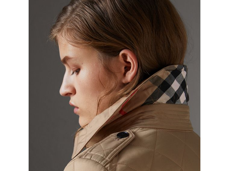 Diamond Quilted Jacket in Canvas - Women | Burberry United States - cell image 1
