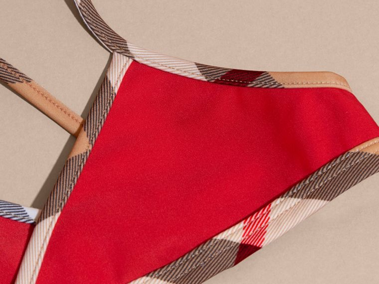 Poppy red Check Trim Bikini Poppy Red - cell image 1