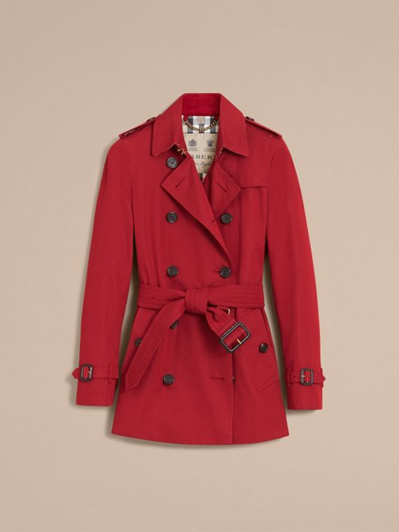 Trench coat Kensington - Trench coat Heritage corto Rojo Desfile - cell image 3