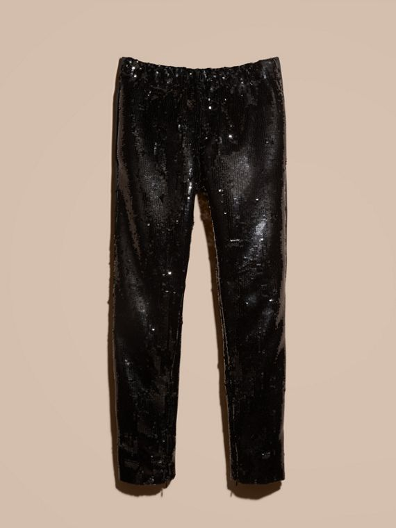 Black Sequin Track Pants - cell image 3