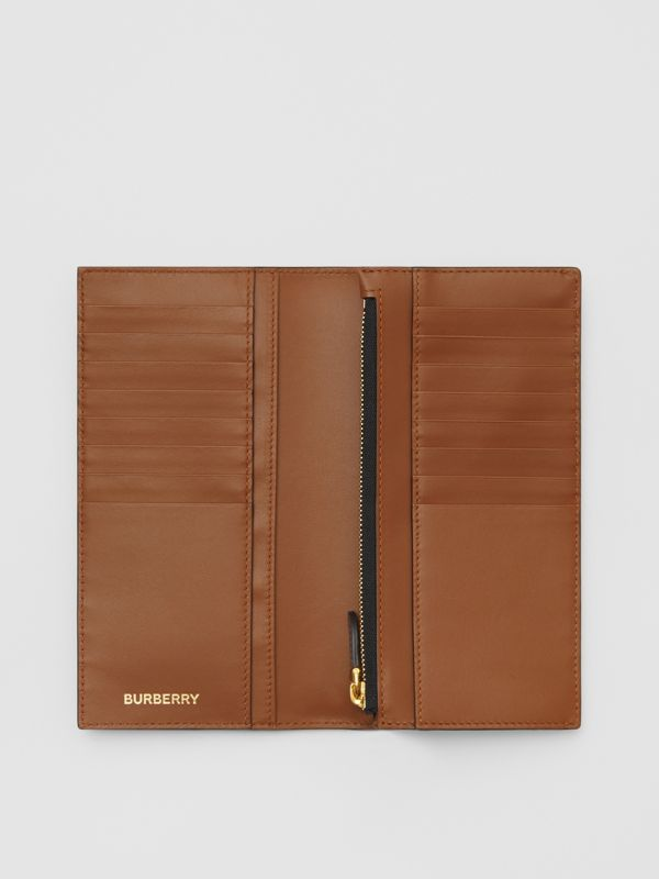 Monogram Print E-canvas Continental Wallet in Bridle Brown - Men | Burberry - cell image 2