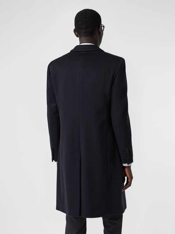 Wool Cashmere Tailored Coat in Navy - Men | Burberry - cell image 2