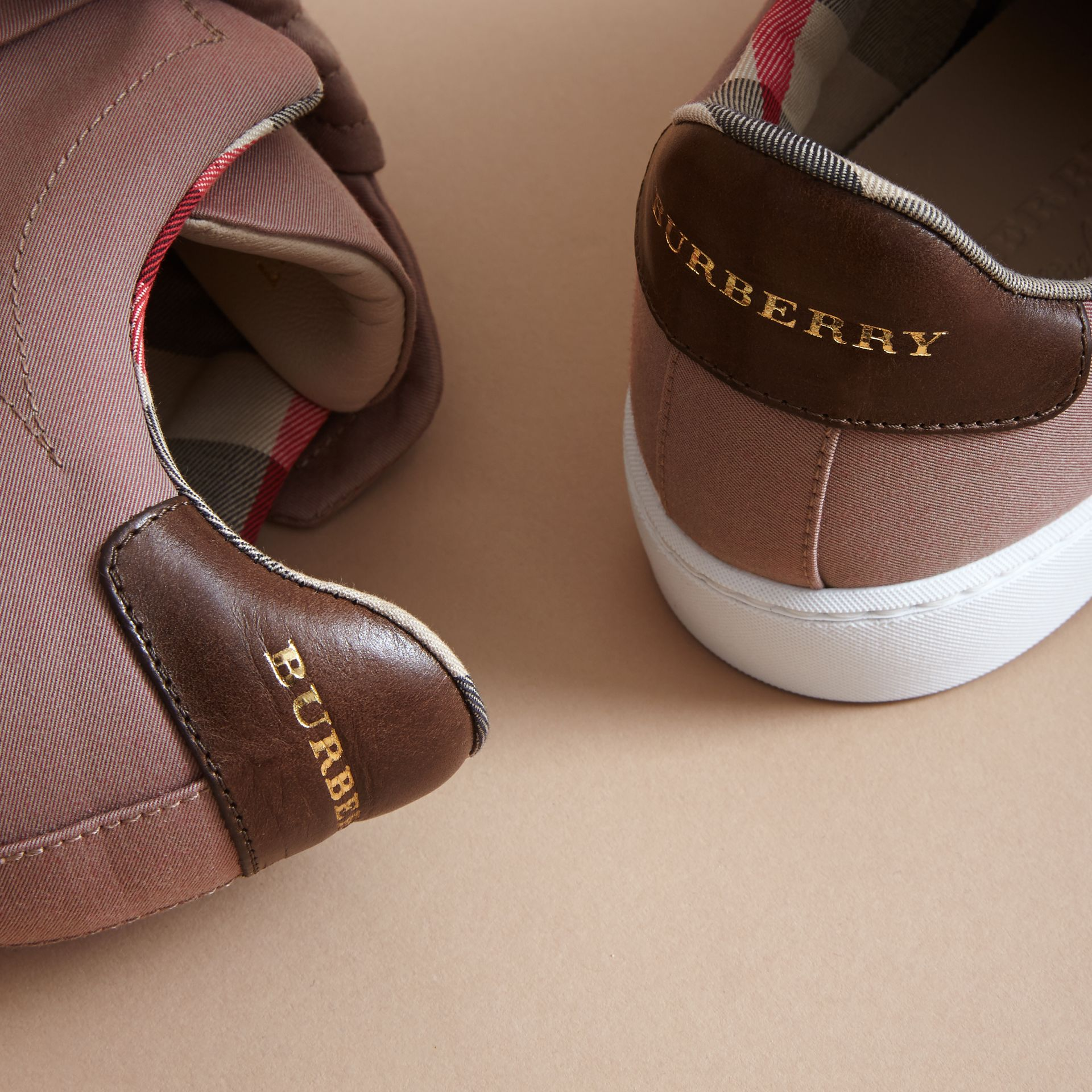Trench Knot Trainers in Antique Rose - Women | Burberry Hong Kong - gallery image 2