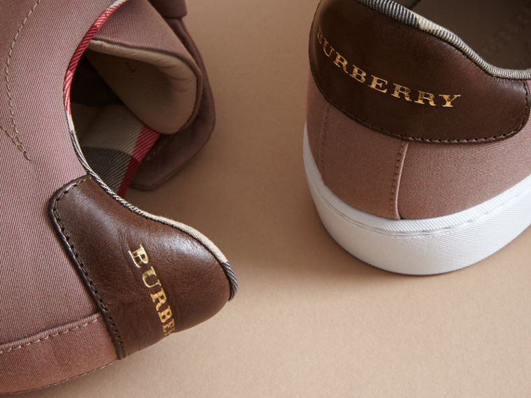 Trench Knot Trainers in Antique Rose - Women | Burberry - cell image 1