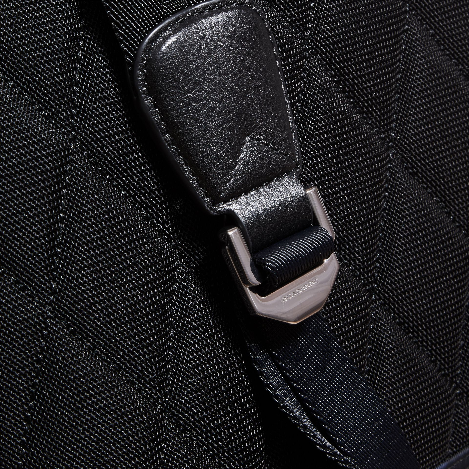 Leather Trim Check Print Backpack - gallery image 2