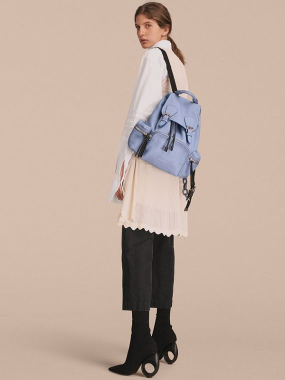 The Medium Rucksack in Deerskin with Resin Chain in Slate Blue - Women | Burberry United Kingdom - cell image 2