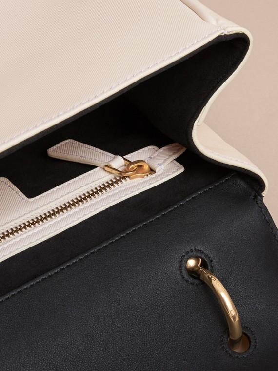 The Medium DK88 Top Handle Bag in Natural/black - cell image 3