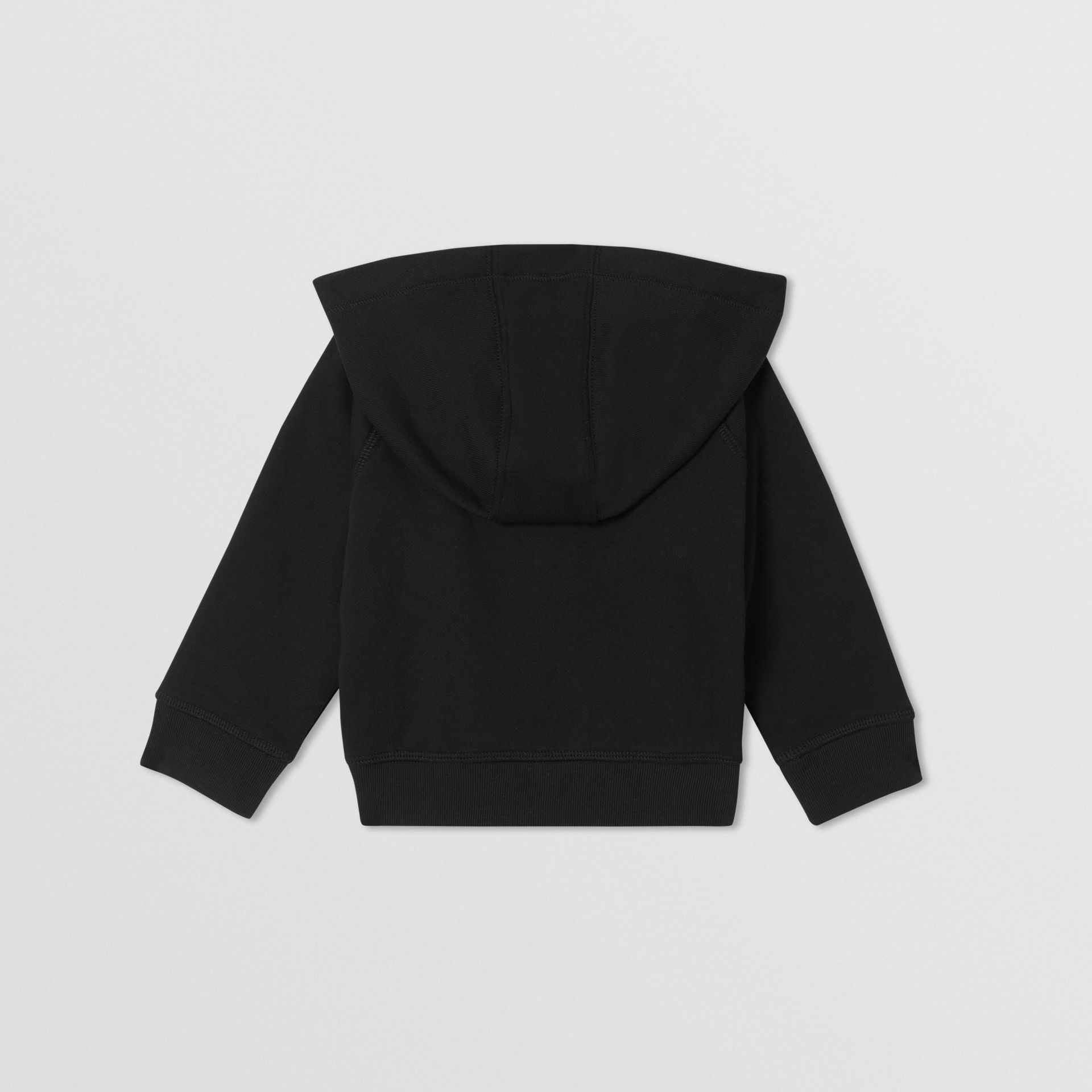 Logo Tape Cotton Hooded Top in Black - Children | Burberry Australia - gallery image 4