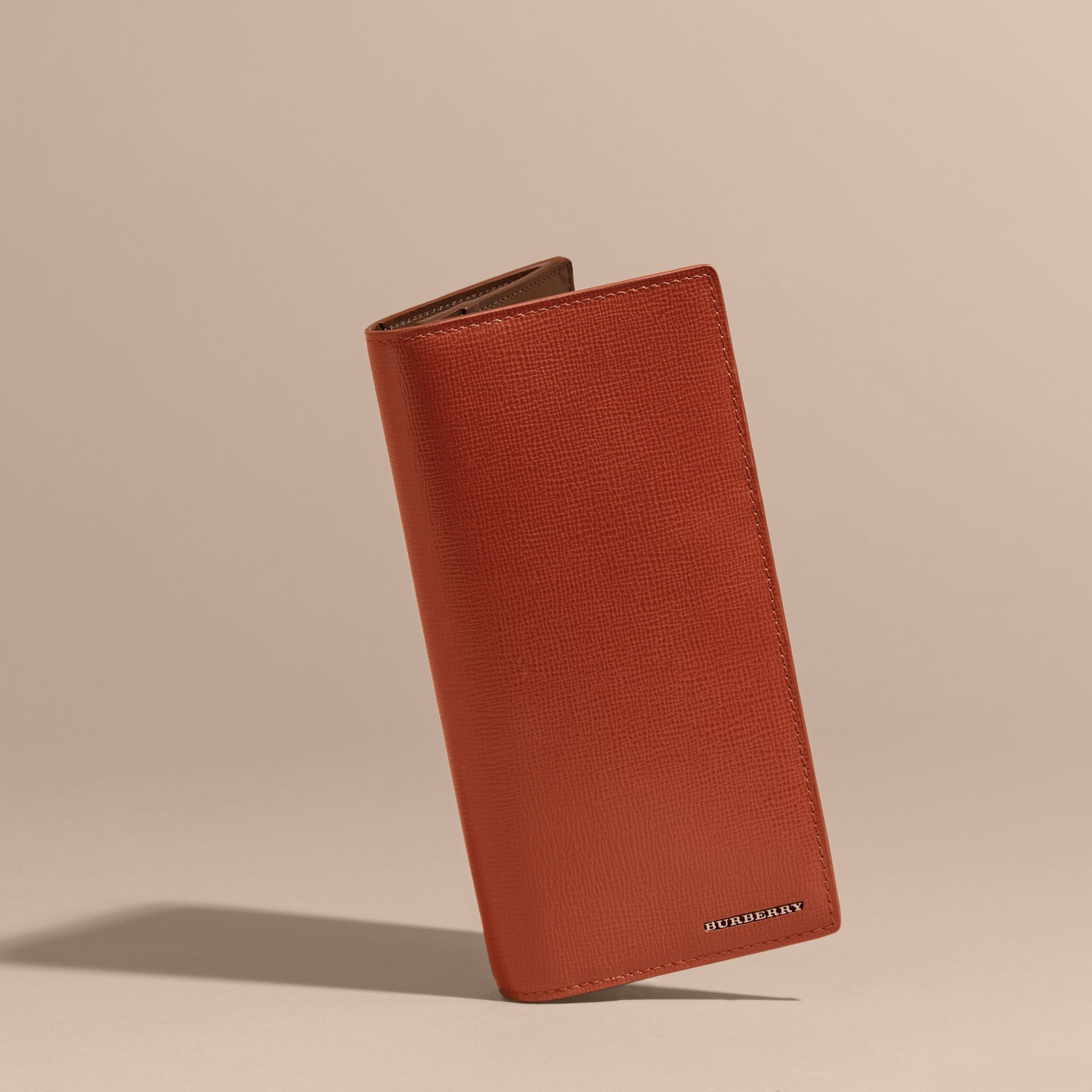 London Leather Continental Wallet Burnt Sienna - gallery image 3