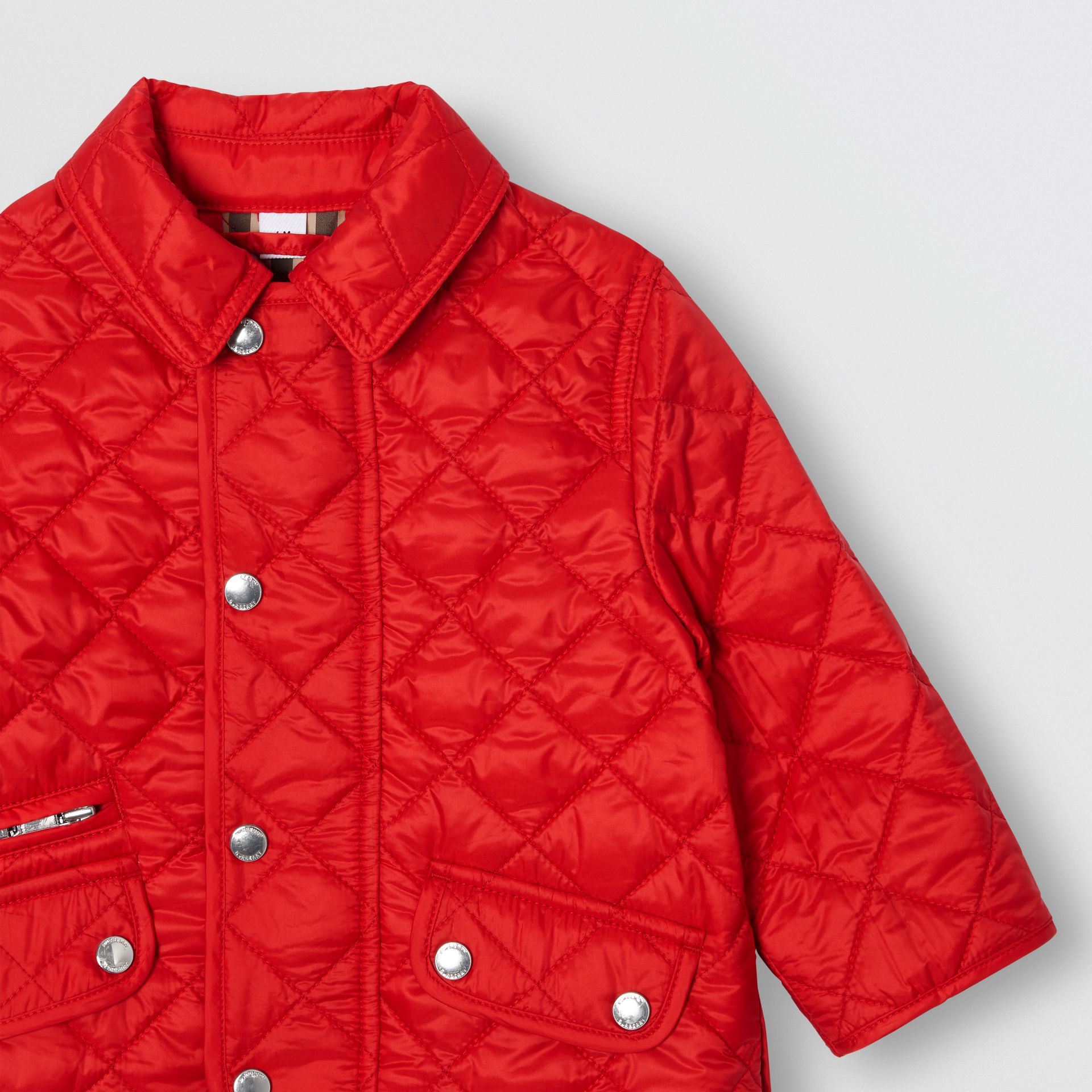 Lightweight Diamond Quilted Jacket in Bright Red - Children | Burberry United Kingdom - gallery image 5