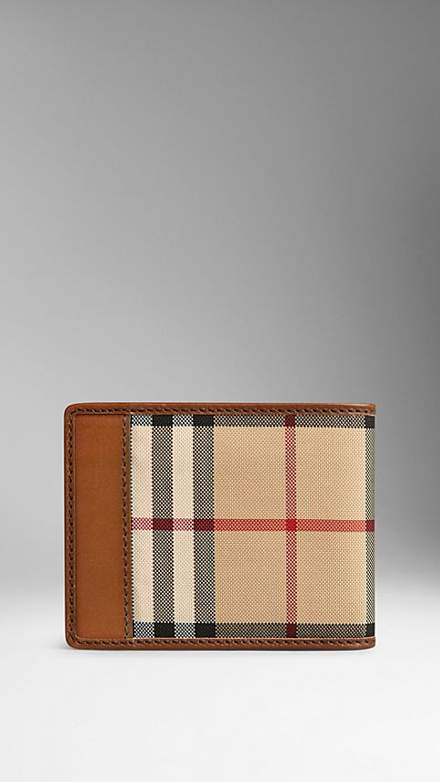 Tan Horseferry Check Wallet - Image 2
