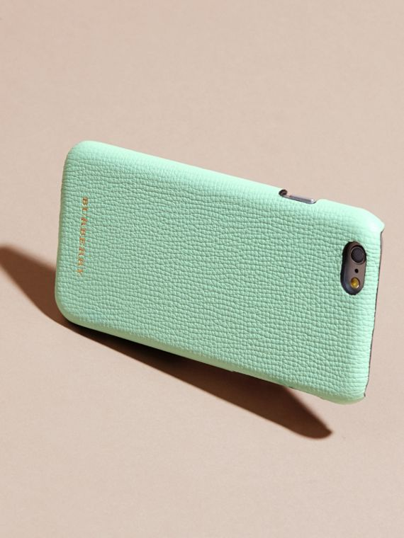 Grainy Leather iPhone 6 Case in Light Mint - Women | Burberry - cell image 3