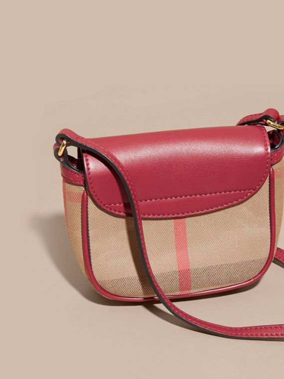 Weather Motif Leather and House Check Crossbody Bag - cell image 3