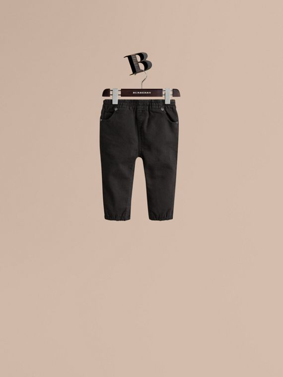 Leggings en denim stretch - Fille | Burberry